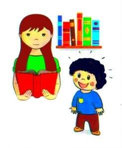 мама и ребенок чтение книги