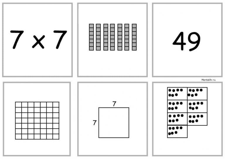 7x7 умножение