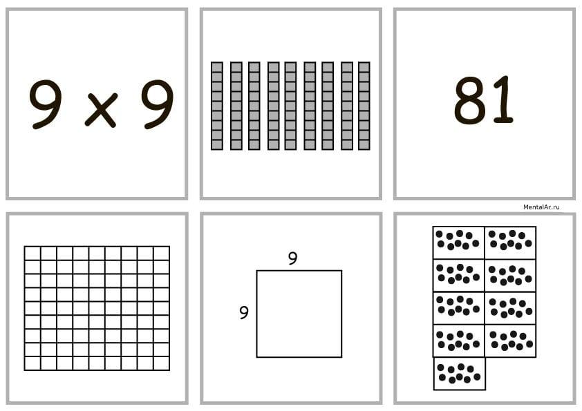9x9 умножение