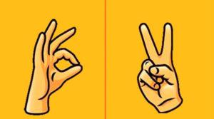 жесты пальцев