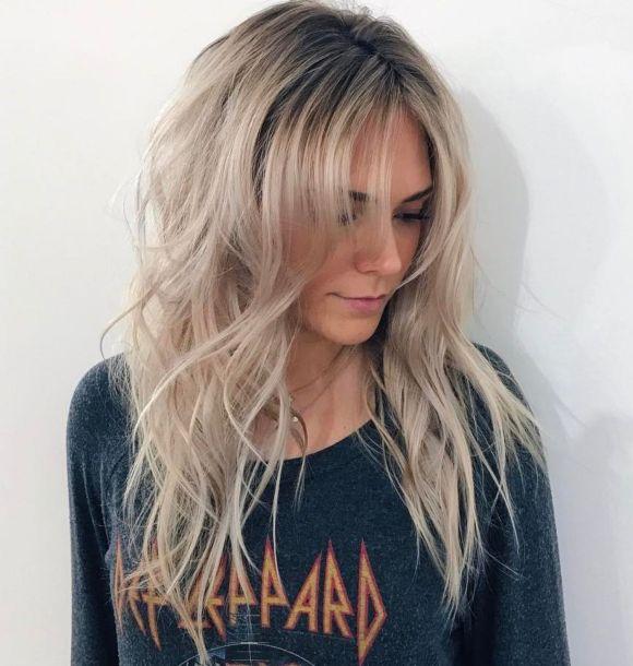 Грязный пепельный блондин для длинных волос