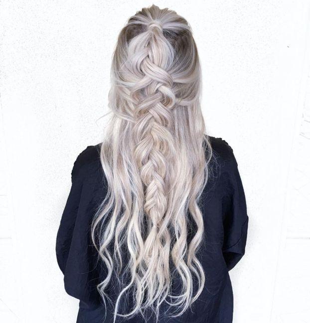 Креативная коса Half Up Braid