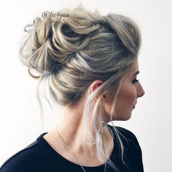 Прическа для увеличения объема тонких волос