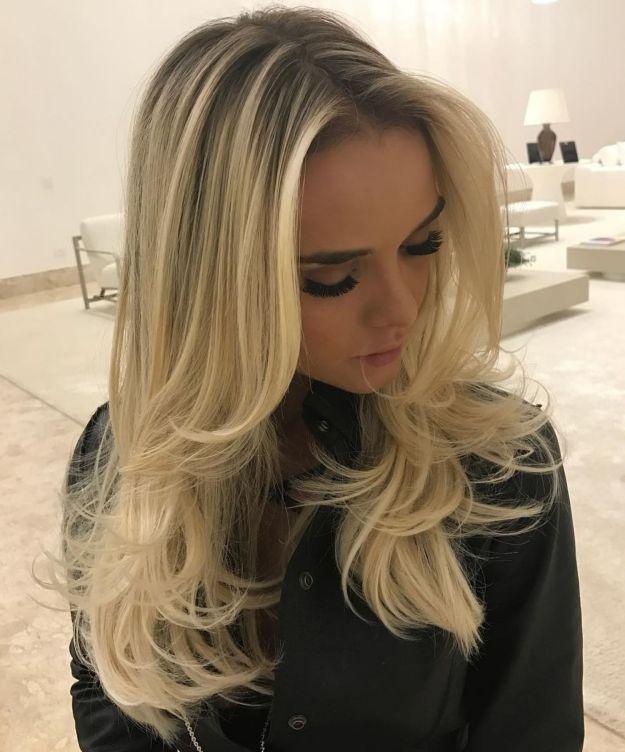Многослойная стрижка для длинных тонких волос